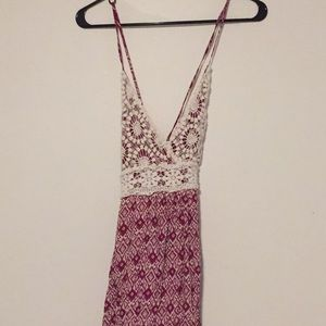 Pink / Purple Maxi Dress with Crochet